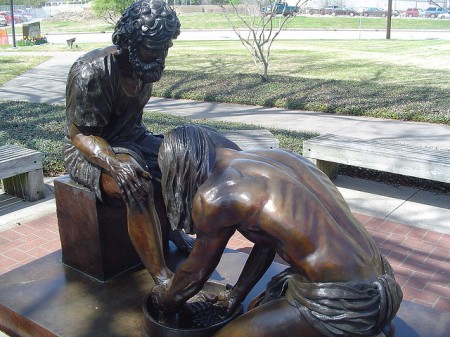 Jesus washing disciples feet